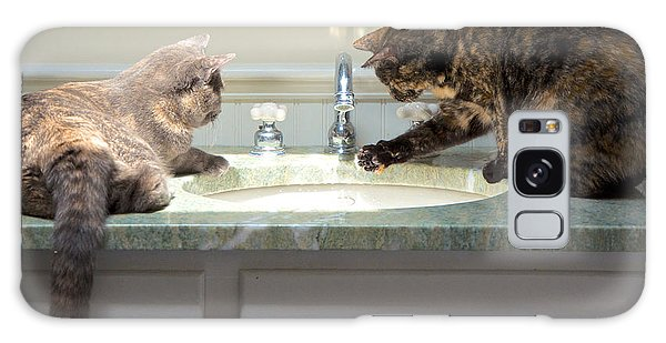 Cat Curiosity Galaxy Case