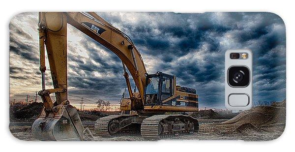 Excavator Galaxy Case - Cat Excavator by Mike Burgquist