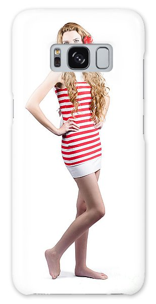 Catwalk Galaxy S8 Case - Catwalk Beauty Posing In Retro Fashion And Makeup by Jorgo Photography - Wall Art Gallery