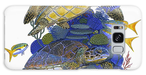 Mangrove Snapper Galaxy Case - Cayman Turtles by Carey Chen