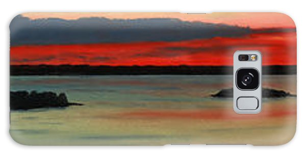 Chambers Island Sunset II Galaxy Case