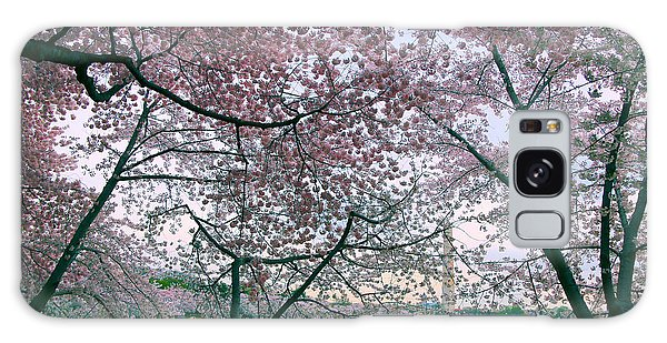 Cherry Blossom Trees Galaxy Case by Mitch Cat