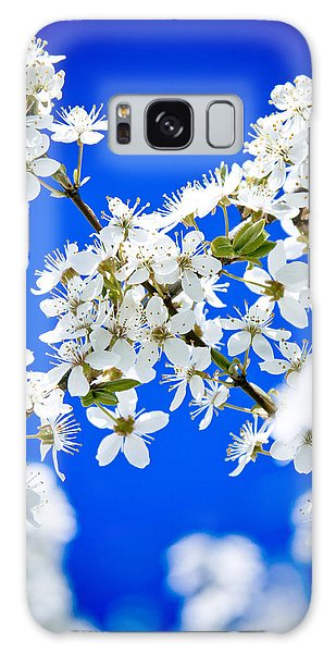 Cherry Blossom With Blue Sky Galaxy Case