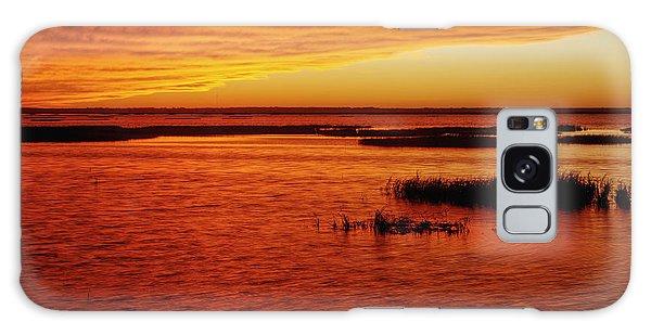 Cheyenne Bottoms Sunset Galaxy Case