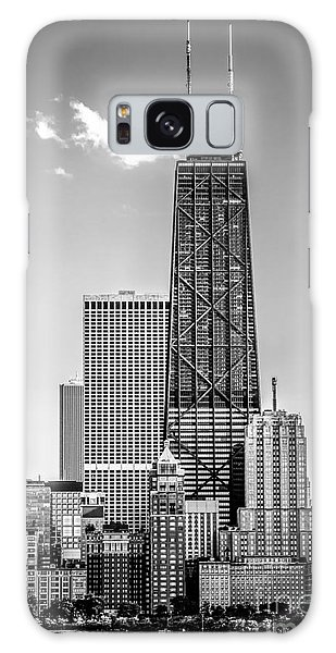 Chicago Hancock Building Black And White Picture Galaxy Case