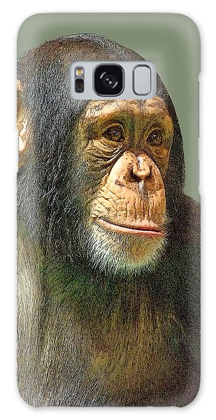 Chimp Portrait Galaxy Case