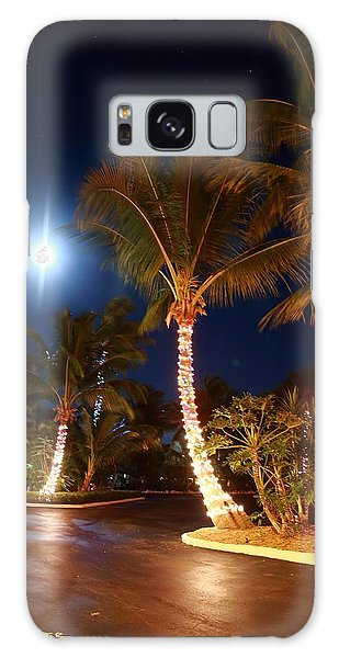 Christmas Palms Galaxy Case