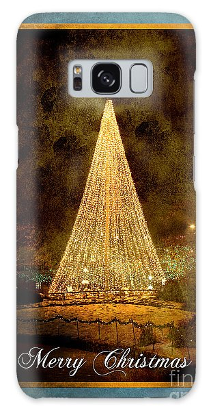 Christmas Tree In The City Galaxy Case