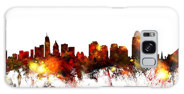 United States Galaxy Case - Cincinnati Ohio Skyline by Michael Tompsett