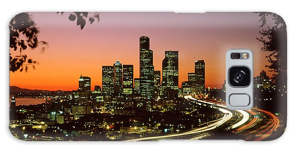 City Of Seattle Skyline Galaxy Case by King Wu