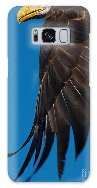 Close-up Of An American Bald Eagle In Flight Galaxy Case