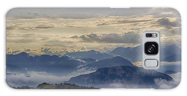 Cloudy Mountain Sunset. Italy Galaxy Case