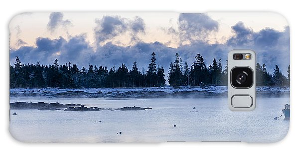 Cold Day Down East Maine Galaxy Case by Trace Kittrell