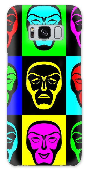 Comedy And Tragedy Galaxy Case by Jane McIlroy