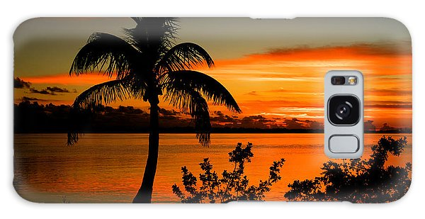 Conch Key Bay Sunset Galaxy Case by Julis Simo