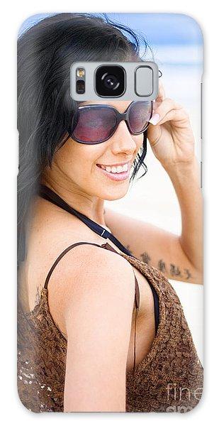 Vivacious Galaxy Case - Cool Beach Babe by Jorgo Photography - Wall Art Gallery