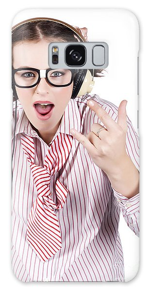 Vivacious Galaxy Case - Cool Music Nerd Rocking Out To Metal On Headphones by Jorgo Photography - Wall Art Gallery