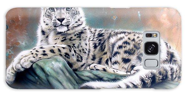 Metal Leaf Galaxy Case - Copper Snow Leopard by Sandi Baker