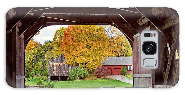 Covered Bridge In Autumn Galaxy Case