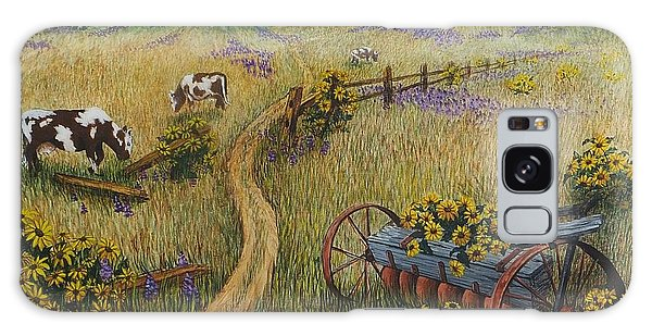 Cows Grazing Galaxy Case by Katherine Young-Beck