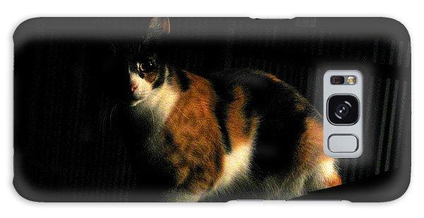 Creepy Kitty Galaxy Case