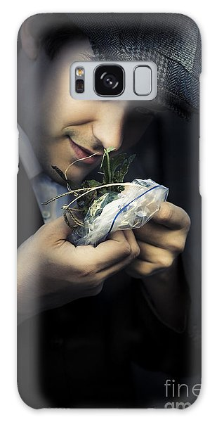 Sly Galaxy Case - Criminal With Weeds And Green Grass by Jorgo Photography - Wall Art Gallery