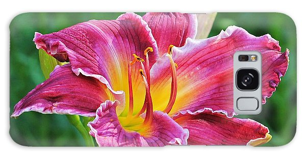 Crimson Day Lily Galaxy Case
