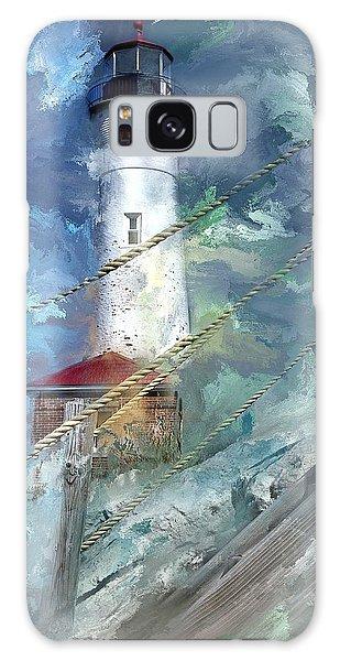 Crisp Point Lighthouse Michigan Galaxy Case