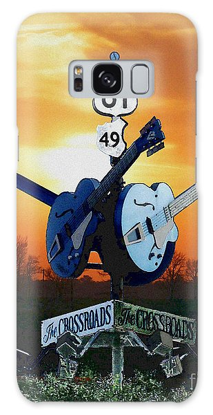 Crossroads Sunset  Blues Highway 61 Galaxy Case