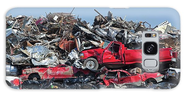 Recycle Galaxy Case - Crushed Cars At Scrapyard by Jim West