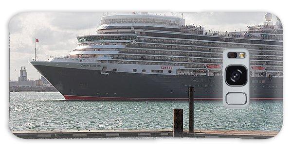 Cunards Queen Elizabeth Galaxy Case by Shirley Mitchell