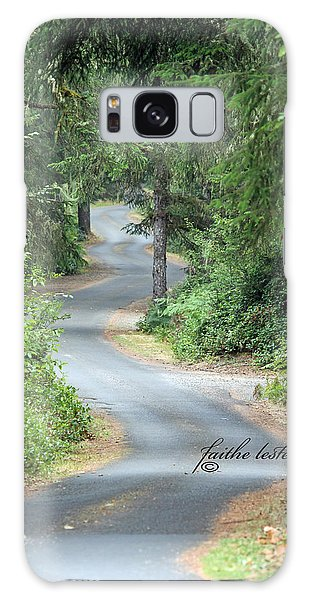 Curves Into Leadbetter Point State Park II Galaxy Case by E Faithe Lester