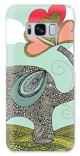 Cute Elephant Galaxy Case by Valentina Ramos