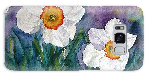 Daffodil Dream Galaxy Case by Anna Ruzsan