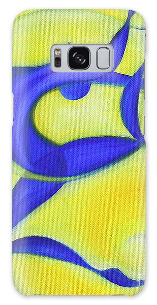 Dancing Sprite In Yellow And Blue Galaxy Case