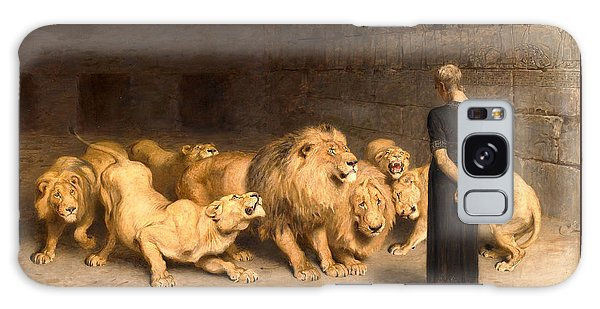 Daniel In The Lions Den Galaxy Case by Briton Riviere