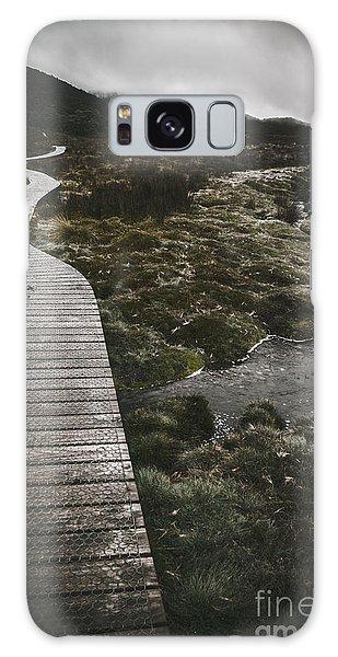 Board Walk Galaxy Case - Dark Dramatic Winter Landscape. Path Of Division by Jorgo Photography - Wall Art Gallery