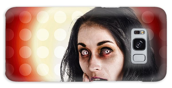 Voodoo Galaxy Case - Dark Portrait Of A Zombie Girl In Shock Horror by Jorgo Photography - Wall Art Gallery