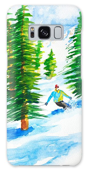 David Skiing The Trees  Galaxy Case