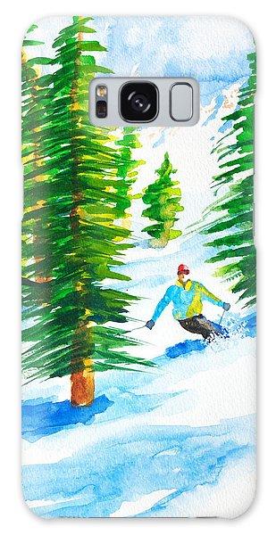 David Skiing The Trees  Galaxy Case