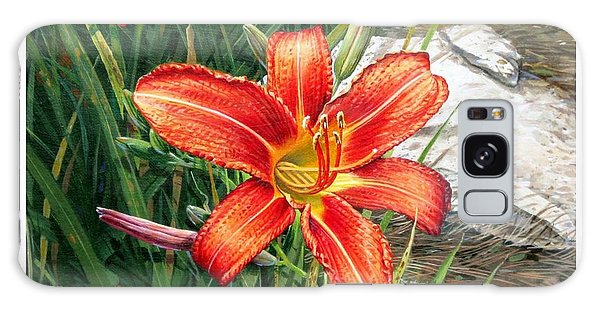 Day Lily Galaxy Case by Bob  George