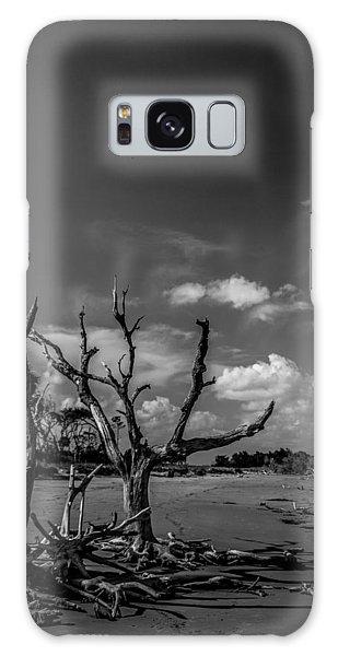 Dead Trees On The Beach Galaxy Case