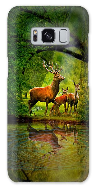 Deer Reflections Galaxy Case
