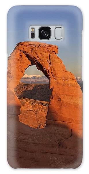 Delicate Arch At Sunset Galaxy Case