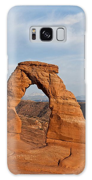 Delicate Arch At Sunset Galaxy Case by Jeff Goulden