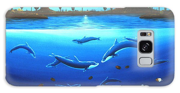 Desert Dolphins Galaxy Case by Lance Headlee
