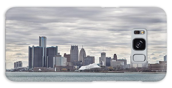 Detroit Skyline From Belle Isle Galaxy Case by John McGraw