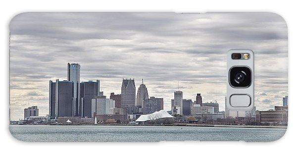 Detroit Skyline From Belle Isle Galaxy Case