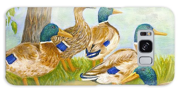 Diva Duck And The Mallards Galaxy Case by Jeanne Kay Juhos