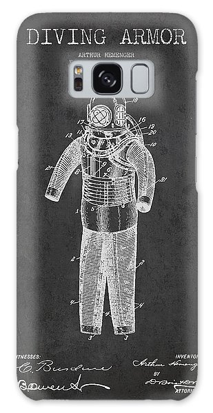 Scuba Diving Galaxy Case - Diving Armor Patent Drawing From 1893 by Aged Pixel